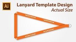 Lanyard Template Design using Adobe Illustrator