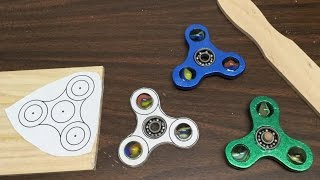 360 video diy 2 or less wooden marble fidget hand spinner