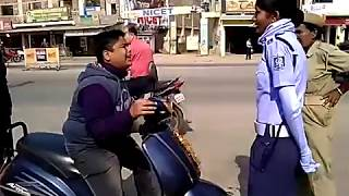Funny Boy vs Strict Traffic Police | Funny Video | Must Watch | Funny Boy Crying