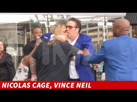 Vince Neil Fights Nic Cage After Al Edly Ing Woman