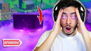 THE CUBE ARRIVED IN THE LAKE AND SANK! BUGOU EVERYTHING!! -Alanzoka ft Fortnite