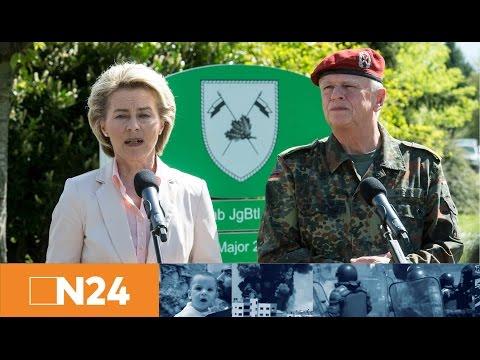 Bundeswehr-Skandal: Pressestatement von Verteidigungsministerin Von der Leyen in Illkirch