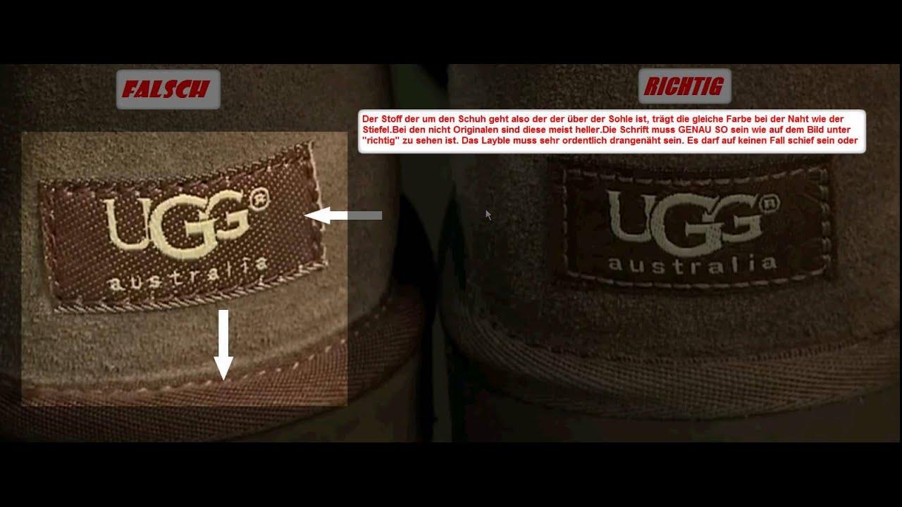 new arrival 67d06 fcfac Wie unterscheidet man echte UGG-Schuhe von Plagiaten