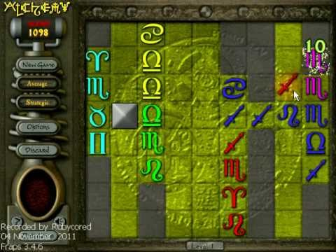 Alchemy (2001 PopCap, PC) - 18,290 at Level 6, Normal mode