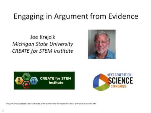 Preparing for the Next Generation Science Standards—Engaging in Argument from Evidence