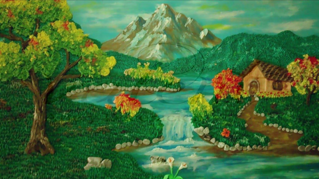 Como hacer un paisaje en plastilina 1 el cielo youtube for Como hacer un lago en el jardin