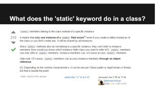 JAVA Programming Tutorials -How to use the STATIC keyword in JAVA Class - 15