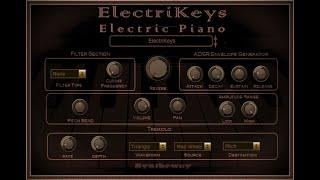 Syntheway ElectriKeys ePiano VST Fender Rhodes, Hohner Clavinet D6, Wurlitzer, Yamaha CP70