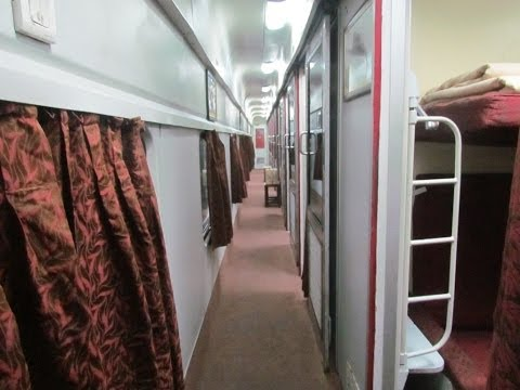 Mumbai-New Delhi Rajdhani First AC Interiors.