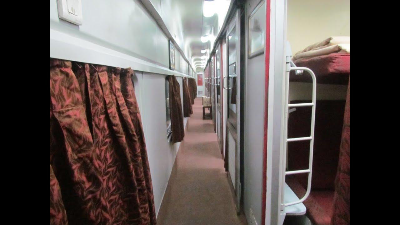 Mumbai-New Delhi Rajdhani First AC Interiors. - YouTube