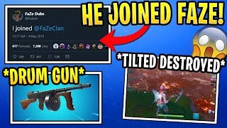 Dubs and Megga Joined FaZe! Ninja and Tfue React to Drum Gun Unvaulted and Volcano Event!
