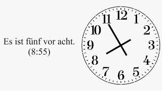Видеоуроки по немецкому языку: время