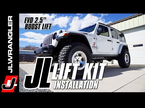 "JL JOURNAL : 2.5"" Jeep JL Wrangler Lift Kit How to Installation - EVO Stage 4 Boost w/Control Arms"