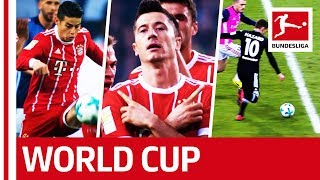 James, hazard, lewandowski & co. - bundesliga's global stars at the 2018 world cup in russia