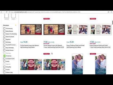 How To Order Personalized Hallmark Photo Cards At Walmart.com