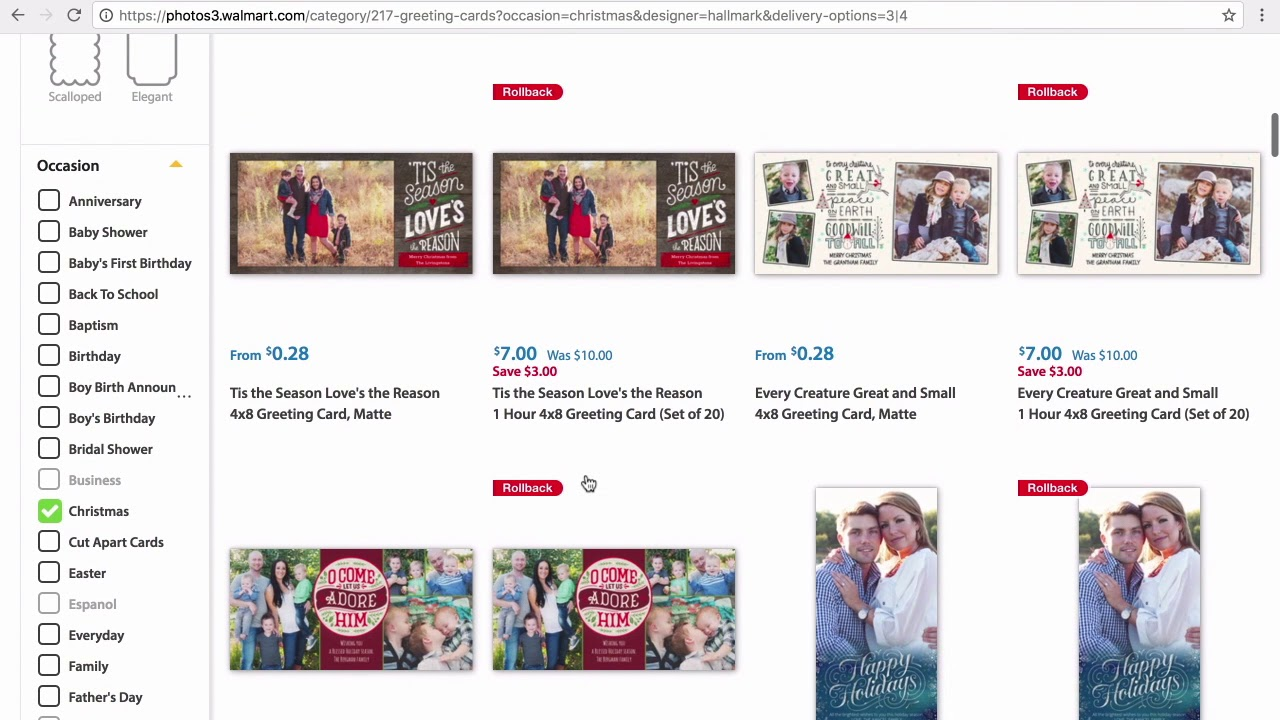 How to Order Personalized Hallmark Photo Cards at Walmart.com - YouTube