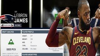 Drafting Lebron James - NBA Draft Class - Madden 19 NBA Draft Class