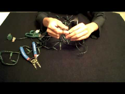 how to shorten christmas lights remove the top plug