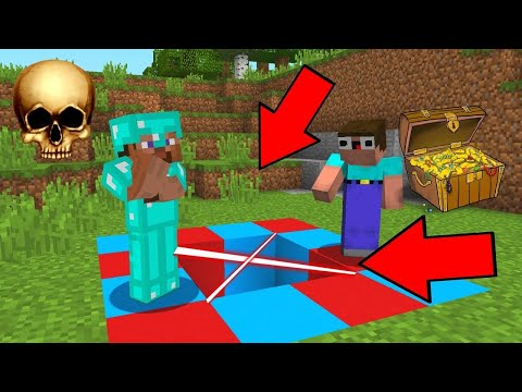 Minecraft NOOB Vs PRO : BLUE-RED PIT In Minecraft | Animation