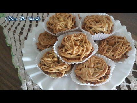 gateau-au-cacahuetes-et-miel/algerien-pastry/حلوة-الرشتة-معسلة-بالفول-السوداني-ببقايا-عجينة-البقلاوة