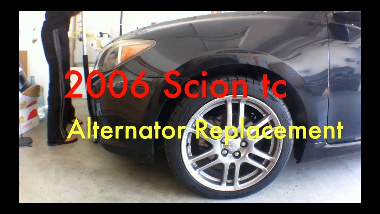2006 Scion tc Alternator - YouTube