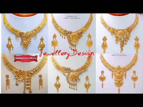 Latest Gold Necklace Designs In Medium Weight | Bridal Necklaces | Jewellery Design 2020