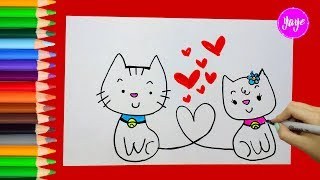 IDEAS PARA DIBUJAR TARJETAS DE AMOR-How to draw Valentine cards