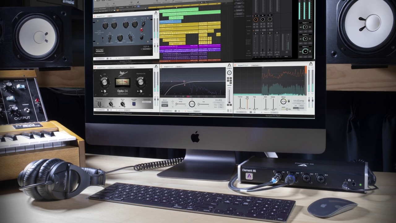 Apogee Preview Apogee FX Rack DualPath Monitoring, Pultec