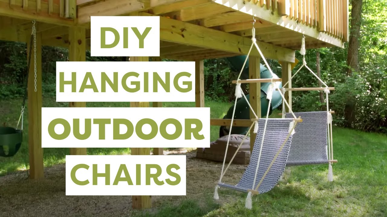 swing chair outdoor turquoise accent chairs diy hanging chairs- hgtv handmade - youtube