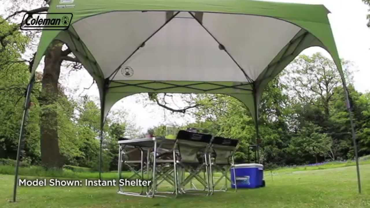 Coleman Instant Shelter : Coleman instant shelter l youtube