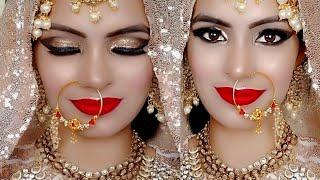 Nikkah/Engagement Bridal Makeup By Priya Deep In Hindi /दुल्हन मेकअप कैसे करे खुद से