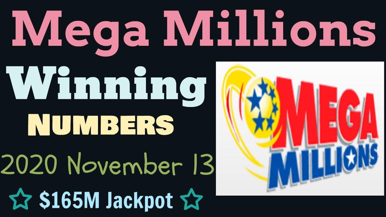 Mega Millions Winning Numbers Friday 13 November 2020 Mega Millions Drawing Tonight 11 13 2020 Youtube