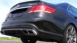 Mercedes E63 AMG S Sound Launch Control Acceleration Fly By V8 Biturbo Exhaust W212