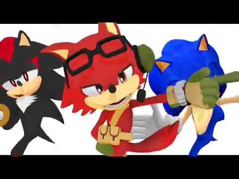 MMD  SONIC FORCES  Sonic The Hedgehog Shadow The Hedgehog And Gadget The Wolf Solar System Disco