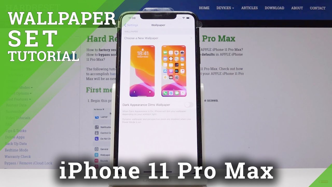 How To Update Home Lock Screen In Iphone 11 Pro Max Change Wallpaper
