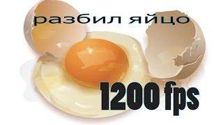 slow motion -broken egg-1200 fps \ Замедленная съемка разбил яйцо 1200-кадров