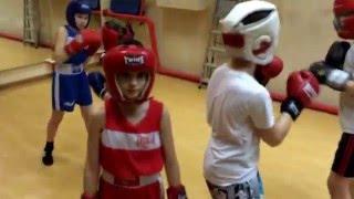 Тренировка по боксу. #дети