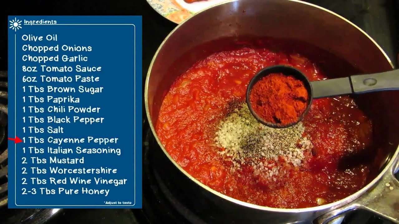 Homemade Barbecue Sauce - Easy BBQ Video Recipe - YouTube