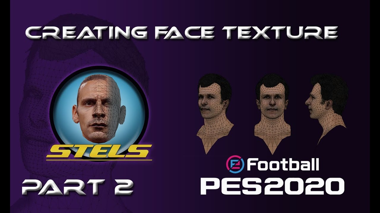 PES 2019/2020 | Creating Face Texture by Stels Facemaker (Part 2)