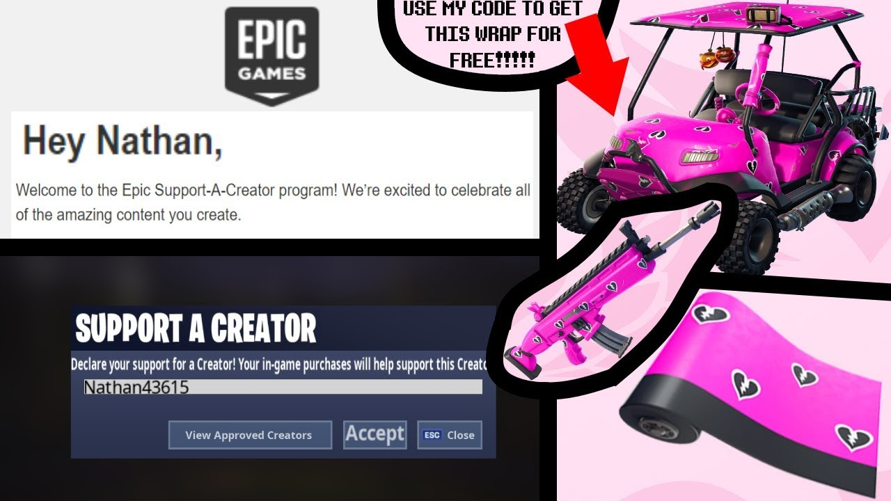 Epic Games gave me a Support-A-Creator code! (Fortnite ...