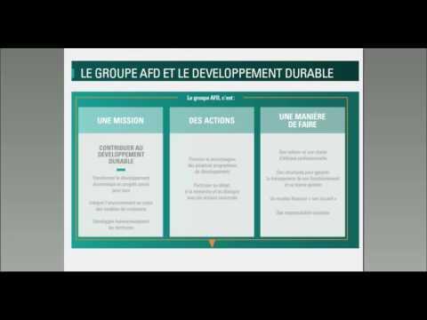 Intégrer le Développement durable, l'exemple de l'AFD - L. de la Forest et S. Clément