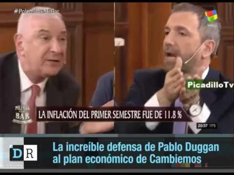 La increíble defensa de Duggan al plan económico de Cambiemos