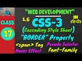 CSS BORDER, Hover Effect, Font Styling, Pseudo Selector, SPAN Tag || Web Development Classes