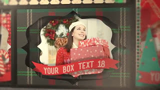 After Effects Project. Slideshow For New Year 2014 And Christmas 2014 - Christmas Shadowbox Display