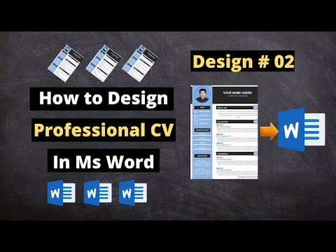 Professional Resume Design Tutorial in Microsoft Word | CV Designing #002