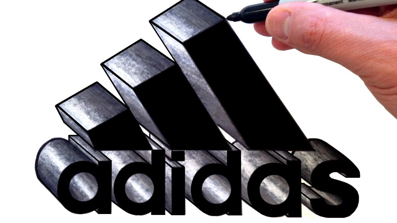 d3f6496c6fad How to Draw the Adidas Logo in 3D - Best on Youtube - YouTube