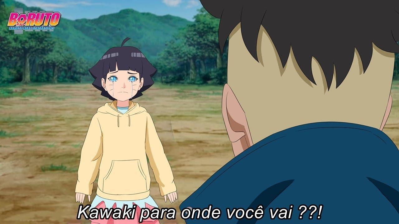 Himawari mostra que Gosta Kawaki e pedi ajuda de Boruto - Boruto