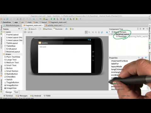 Create a User Interface - Developing Android Apps