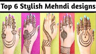Easy Stylish 6 Mehndi designs - beautiful simple Mehndi designs back hand - Mehandi ke designs