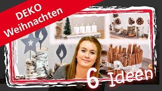 DIY Weihnachtsdeko - 6 EINFACHE IDEEN ZUM SELBER